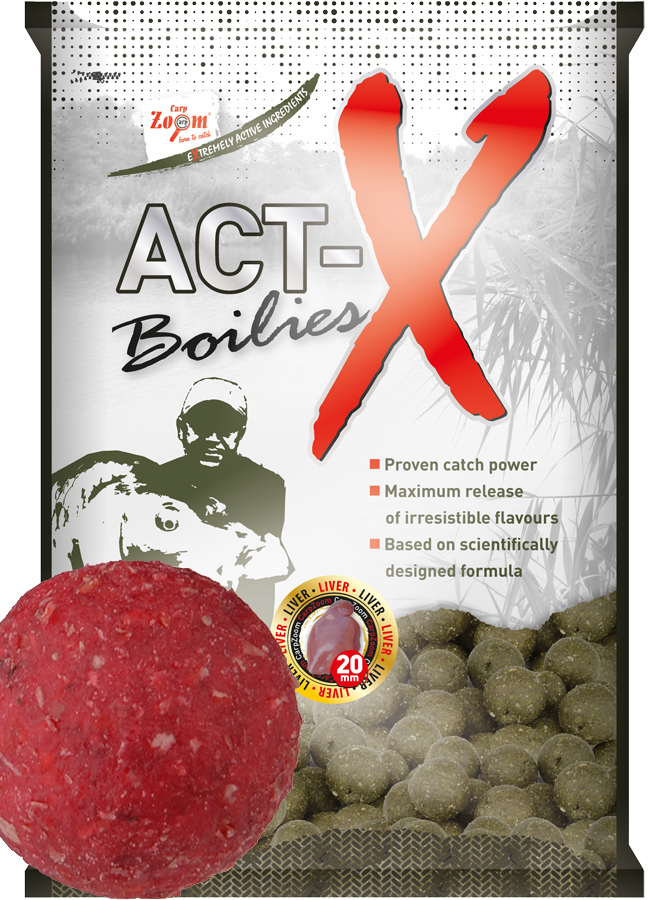 Act-X Boilies - 20mm - Strawberry (jahoda) - CZ9493