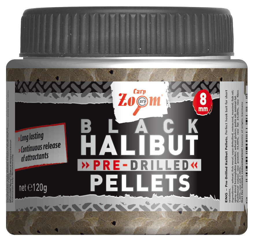 Pre-Drilled Black Halibut Pellets - 8mm - CZ9363